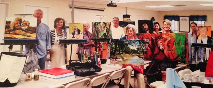Roberta Buckles Art class